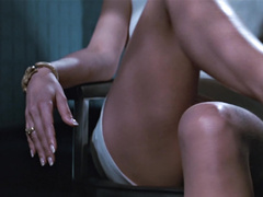 Толстый очкарик заглядывает между ног красотки