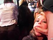 Бурная оргия в ночном элитном клубе