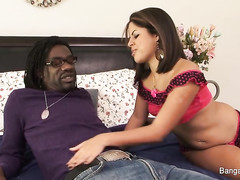 Latina teen Fucks a black cock